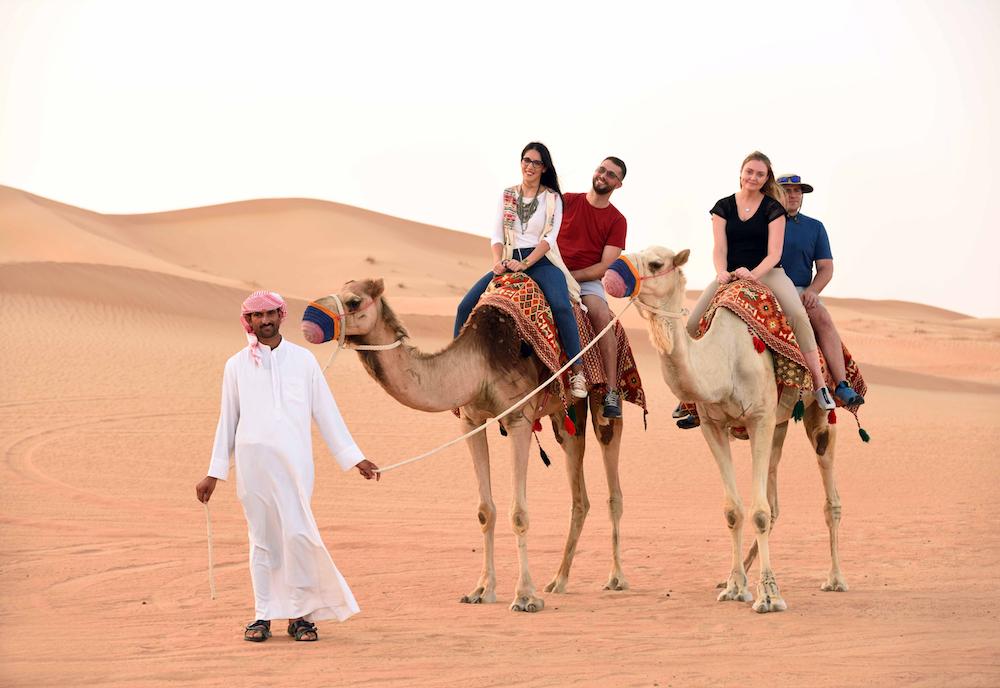 camel trekking in dubai, uae