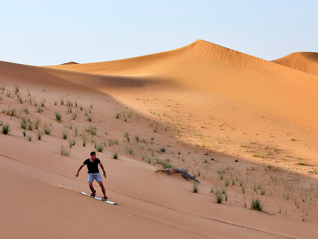 Sand Boarding in Dubai - Arabian Adventures